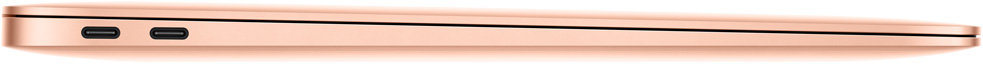 macbook air widok z boku zamknięty szary