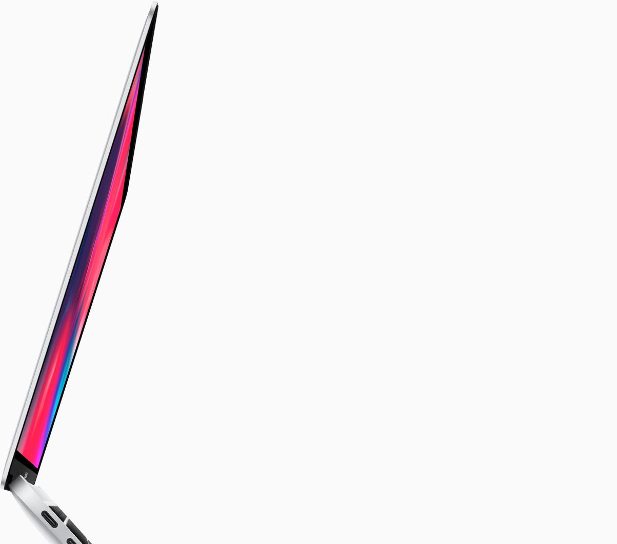 macbook air widok ekranu z boku