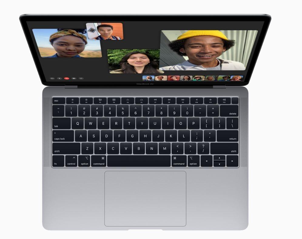 macbook air widok z gory