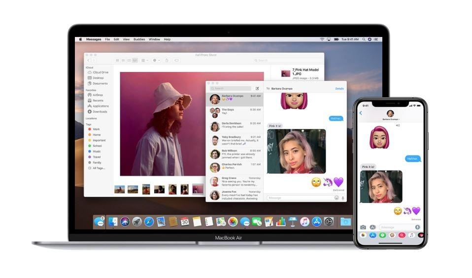macbook air i iphone
